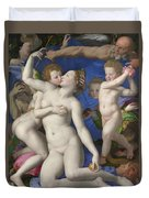An Allegory With Venus And Cupid Duvet Cover