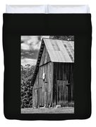An American Barn Bw Duvet Cover
