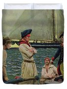 An American Privateer Taking A British Prize, Illustration From Pennsylvanias Defiance Duvet Cover