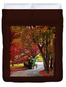 An Amish Autumn Ride Duvet Cover