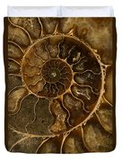 An Ancient Ammonite Pattern II Duvet Cover
