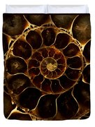 An Ancient Ammonite Pattern  Duvet Cover