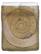 An Ancient Ammonite Pattern Vi Duvet Cover
