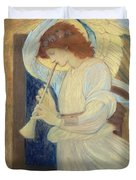 An Angel Playing A Flageolet Duvet Cover