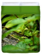 An Angry Anole Duvet Cover