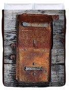 An Antique Mailbox Duvet Cover