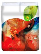 An Apple A Day - Colorful Fruit Art By Sharon Cummings  Duvet Cover by Sharon Cummings