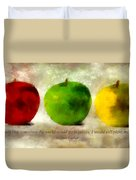An Apple A Day With Martin Luther Duvet Cover