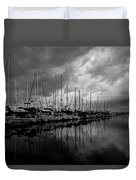 An Approaching Storm - Black And White Duvet Cover