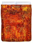 An Autumn Abstraction Duvet Cover