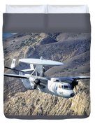 An E-2c Hawkeye Aircraft Flies Duvet Cover