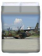 An Eads Casa C-295 Aircraft Duvet Cover