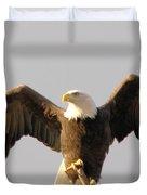 An Eagle Posing  Duvet Cover