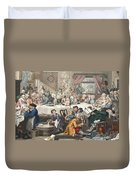 An Election Entertainment, Illustration Duvet Cover by William Hogarth