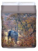 An Elephant Making Its Way Duvet Cover