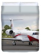 An Embraer Legacy 600 Private Jet Duvet Cover