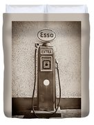 An Esso Petrol Pump From The First Half Duvet Cover