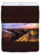 An Evening At The Marsh Duvet Cover