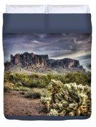An Evening At The Superstitions Duvet Cover