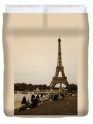An Evening At The Tower Duvet Cover