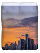 An Evening In Detroit Michigan  Duvet Cover