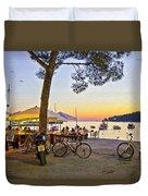 An Evening In Rovinj - Croatia Duvet Cover