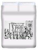 An Execution Of Witches In England Duvet Cover