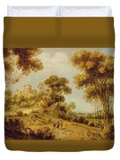 An Extensive Wooded Landscape Duvet Cover