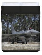 An F-16a Fighting Falcon Duvet Cover