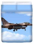 An F-16c Fighting Falcon From 64th Duvet Cover