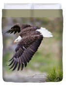 An Female Eagle Flys Protectively Over Duvet Cover