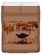 An Ibis Feeding Duvet Cover