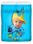 An Image Of A Photograph Of Your Child. - 06 Duvet Cover