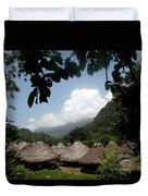 An Indigenous Village In The Jungles Duvet Cover