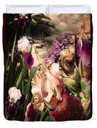 An Iris Surprise Left Duvet Cover