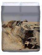 An Israel Defense Force Caterpillar D-9 Duvet Cover