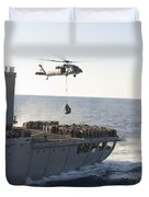 An Mh-60s Sea Hawk Helicopter Carries Duvet Cover