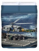 An Mh-60s Sea Hawk Helicopter Picks Duvet Cover