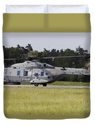 An Nh90 Helicopter Of The Italian Navy Duvet Cover