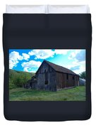 An Old Barn In The Sage Duvet Cover