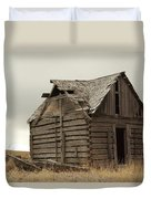 An Old Cabin In Eastern Montana Duvet Cover