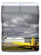 An Old Communist-era Zlin Z-37a Crop Duvet Cover