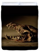 An Old Coyote Skull, Canis Latrans Duvet Cover