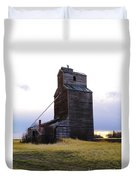 An Old Grain Elevator Off Highway Two In Montana Duvet Cover