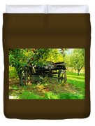 An Old Harvest Wagon Duvet Cover