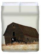 An Old Leaning Barn In North Dakota Duvet Cover