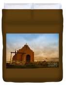 An Old Mission In Northeastern Montana Duvet Cover