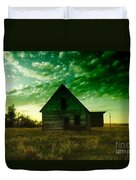 An Old North Dakota Farm House Duvet Cover