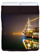 an Old Pirate Ship Duvet Cover