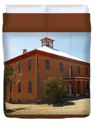 An Old School In White Oaks New Mexico Duvet Cover